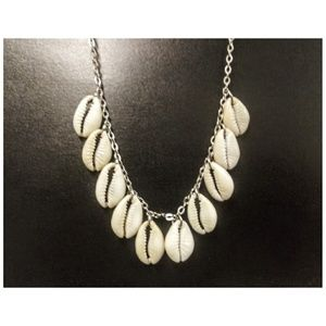 Cowrie Shells & Stainless Steel Necklace